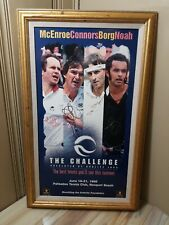 The Challenge SIGNED Autograph Tennis Poster McEnroe, Conners, Borg, Noah