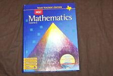 Holt Mathematics Course 2 - Texas Teacher's edition
