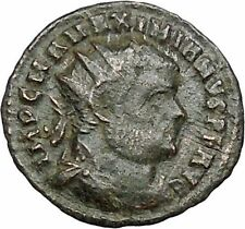 Maximian receiving Victory from Jupiter 295AD Ancient Roman Coin  i40751