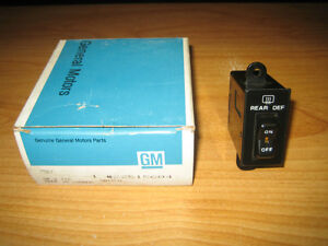 NOS GM 1984 Oldsmobile Omega Electric Rear Window Defogger Defroster Switch