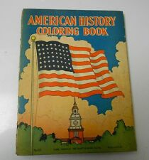 1946  American History Coloring Book by Florence Orville Platt & Munk #63 VG+
