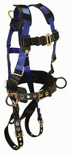 Falltech 7073LX 3 D-Ring and Tongue Buckle Leg Strap Harness (L/XL)