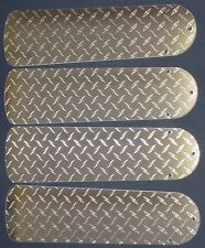"New DIAMOND PLATE SILVER GARAGE MOTORCYCLE TRUCK 42"" Ceiling Fan BLADES ONLY"