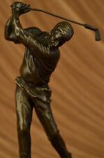 Male Golfer Golf Club Pro Shop PGA Masters Trophy Award Art Bronze Marble Figure