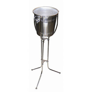 Champagne Folding Stainless Steel Bucket Stand and Ice Bucket Bar Restaurant