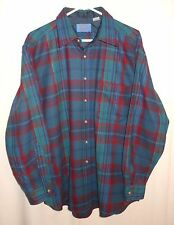 Vtg Pendleton Wool Shirt Classic Plaid Ivy League Style Large