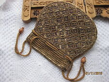 Sequin embrayage sac de poignet sac à main Purse (Batua) Mariage Fête Bal prune purplemk