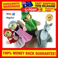 4pcs Little Red Riding Hood Finger Puppets Fairy Tale Puppet for Children Kids