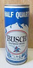 1970's Half Quart Busch Beer 16 Fl Oz Crimped Steel Pull Tab Beer Can Top Open