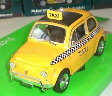 WELLY NEX MODELS MINIATURE FIAT NUOVA 500 TAXI NEW YORK ECHELLE 1:24 NEUF OVP