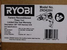 Ryobi ZRD620H 6.2 Amp 5/8 in. VSR Hammer Drill (Certified Refurbished)