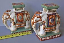 New ListingPair of Vintage Large Elephant Hand Painted Bookends