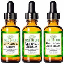 Anti Aging Serum 3-Pack for Face - Vitamin C Serum, Retinol Serum, Hyaluronic Ac