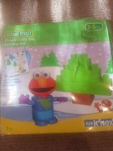 Sesame Street Elmo Chilly Day Kid Knex 7 Pcs