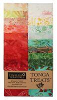 "Timeless Treasures Batik Tonga Treats - Poppy - (20) 2.5"" Fabric Strips"