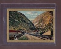1911 St Gotthard Tunnel Switzerland Pan Handle Scrap tobacco card T99