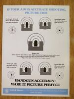 SMITH & WESSON HANDGUN ACCURACY POSTER. NEW!!!! GREAT FOR BAR / MANCAVE.