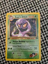 New listing Kogas Arbok 25/132 1st Edition Gym Challenge Pokemon Card NM PSA Ready