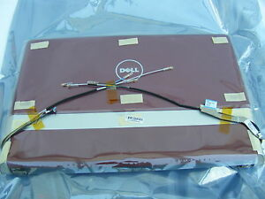 """NEW DELL D747T STUDIO 15.6"""" XPS 1640 1645 1647 RED LCD ASSEMBLY WITH HINGES"""