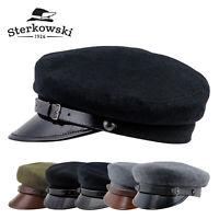 Sterkowski MACIEJOWKA MODEL 1 Wool Fiddler Cap Peaked Vintage Elegant Newsboy