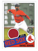 2020 Topps Rafael Devers 1985 jersey patch relic card Red Sox