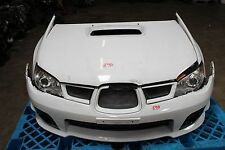 JDM Subaru STi V9 White Front End Nose Cut Bumper Hood Fenders Headlights