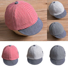 af5d9020 Summer Cute Newborn Baby Girl Boy Hat Infant Sun Cap Cotton Beret Hat  Striped A