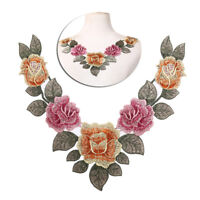 diy embroidered floral lace neckline neck collar trim clothes sewing appliqFLA