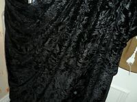 6 MTR QUALITY BLACK ICE CRUSHED VELVET FABRIC...58 INCHES WIDE