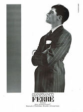 PUBLICITE ADVERTISING 045  1993  GIANFRANCO FERRE haute couture homme