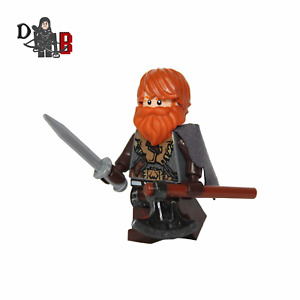 Game of Thrones Tormund Giantsbane Minifigure. Made using LEGO & custom parts.