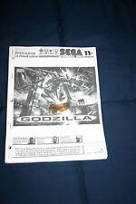 Sega Godzilla pinball machine manual (#Man087)