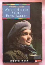 When Hitler Stole Pink Rabbit Judith Kerr paperback book novel children's 1998
