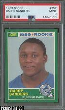 1989 Score Football #257 Barry Sanders Detroit Lions RC Rookie PSA 9 MINT