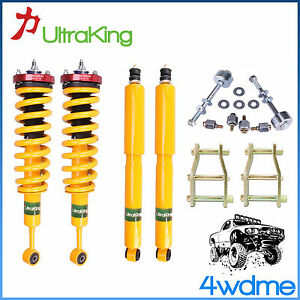 """For Toyota Hilux KUN26 4WD HD Shocks KING Coil Springs 3"""" Front 2"""" Rear Lift Kit"""