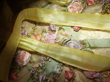 French Antique / Vintage Early 1920's Era Yellow Ombre Ribbon Trim ~Bty