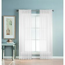 """1 Piece Solid Sheer Window Treatment Curtains Drape Panels Extra Long 60"""" X 108"""""""