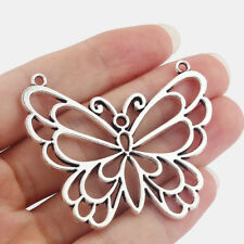5 x Tibetan Silver Large Hollow Open Butterfly Charms Pendants Jewelry Findings