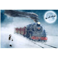 DIY 5D Full Drill Diamond Painting Kits Snow Train Embroidery Art Decors Gifts
