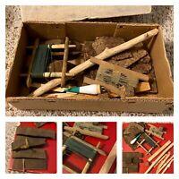 Antique Poor man's Hand Made Wood Cork & Twine Fishing Gear Reel Americana