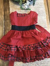 Persnickety Christmas Lorelai Dress (red Plaid) 2t