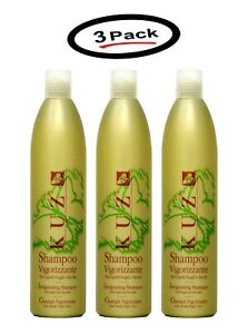 3 Pack of Kuz Vigorizzante Shampoo Dry Hair Made In Italy New 16.9 oz Bottles