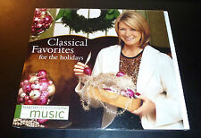 "Martha Stewart ""CLASSICAL FAVORITES FOR THE HOLIDAYS"" Christmas CD *GREAT SHAPE*"