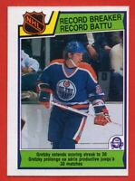 1983-84 O-Pee-Chee #212 Wayne Gretzky Record Breaker EX-EXMINT+ Edmonton Oilers