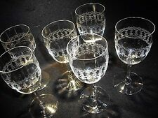 Vintage PALL MALL style ETCHED sherry cocktail glasses 30s 40s retro art deco