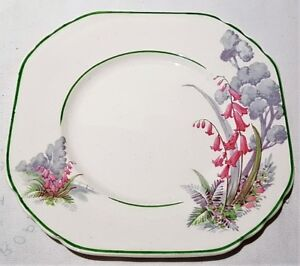 Enoch Wedgwood Unicorn Pottery Pink & Grey Side Plate c1936-56 Made In England