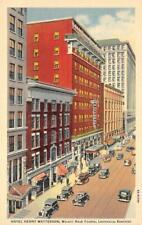 HOTEL HENRY WATTERSON Louisville, Kentucky ca 1940s Vintage Linen Postcard