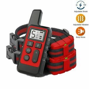 Electric Anti Barking Remote Dog Training Collar Rechargeabl Waterproof IP67 LCD