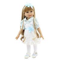 """18"""" 45cm Baby Girl Doll Lifelike Handmade Girl Reborn Doll Tiny Flower Dress"""