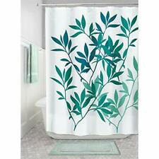 iDesign Leaves Fabric Shower Curtain for Master, Guest, Kids', College Dorm Bat